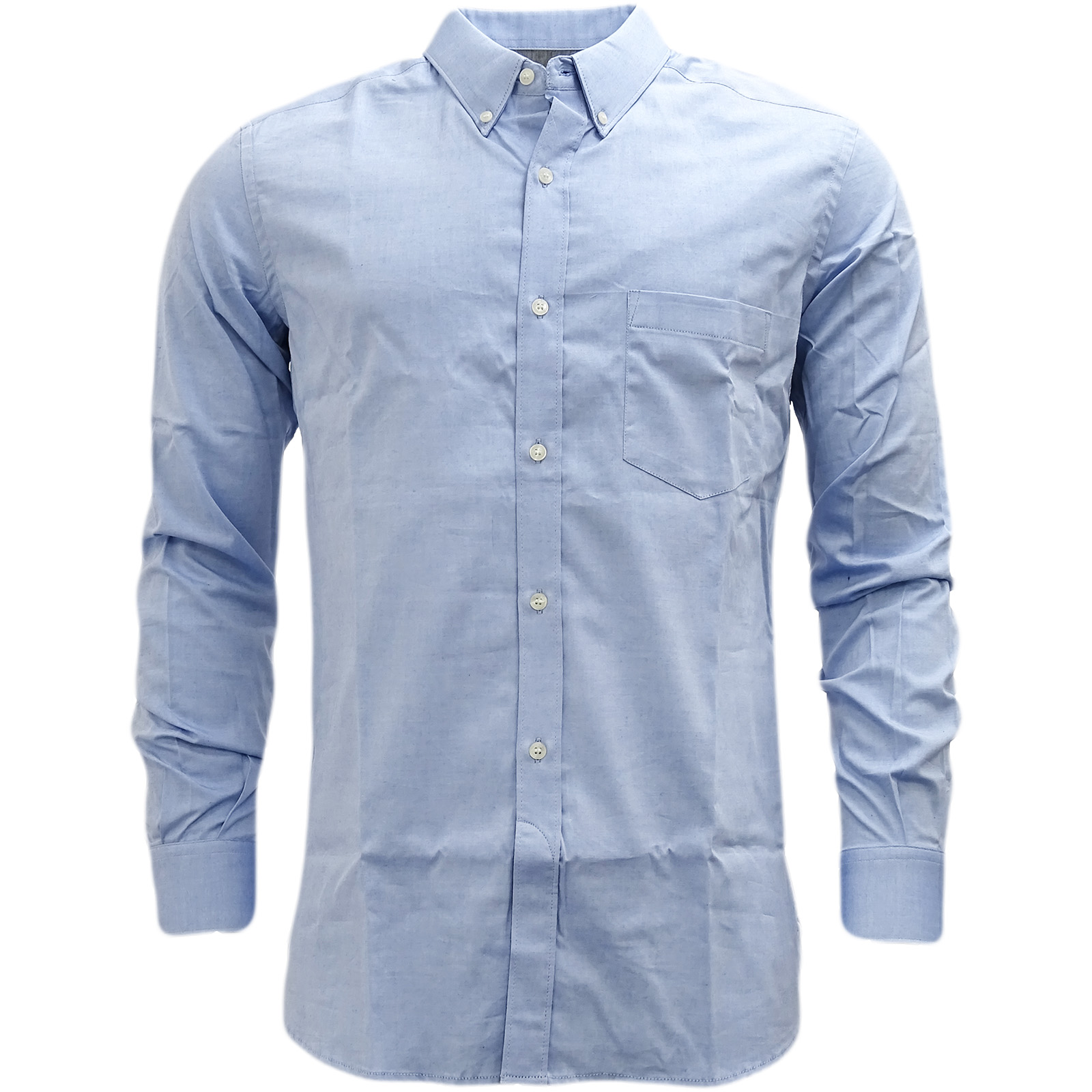 Mens Shirts French Connection Plain Shirt Long Sleeve Smart Casual M L XL