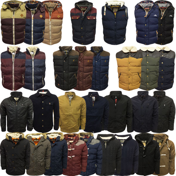 Mens Gilet Body Warmer Coat Jacket Duffle Parker Harrington Bomber S M L XL XXL