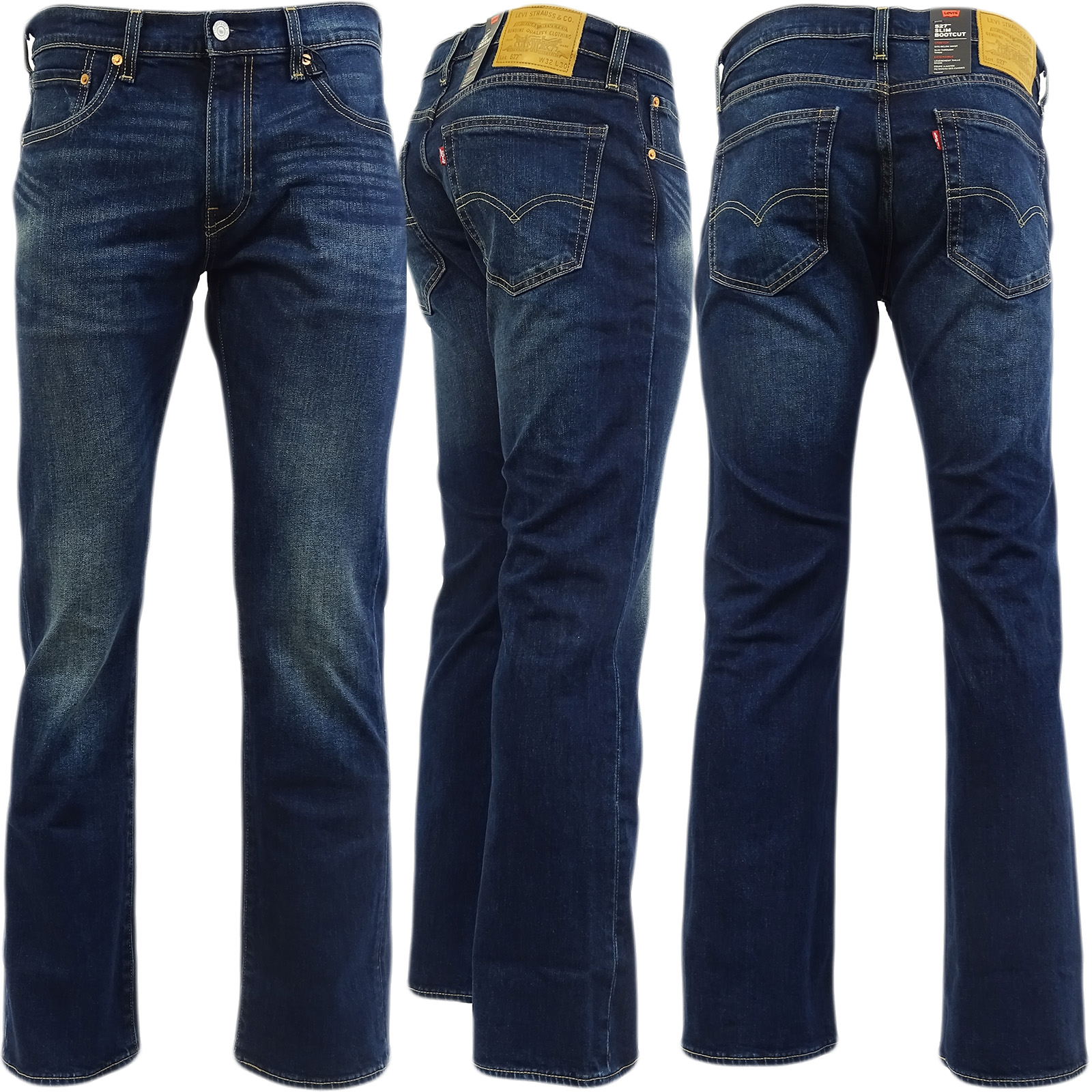 Levi Strauss 527 Bootcut Jean Dark Blue With Fading Sequoia 05-62