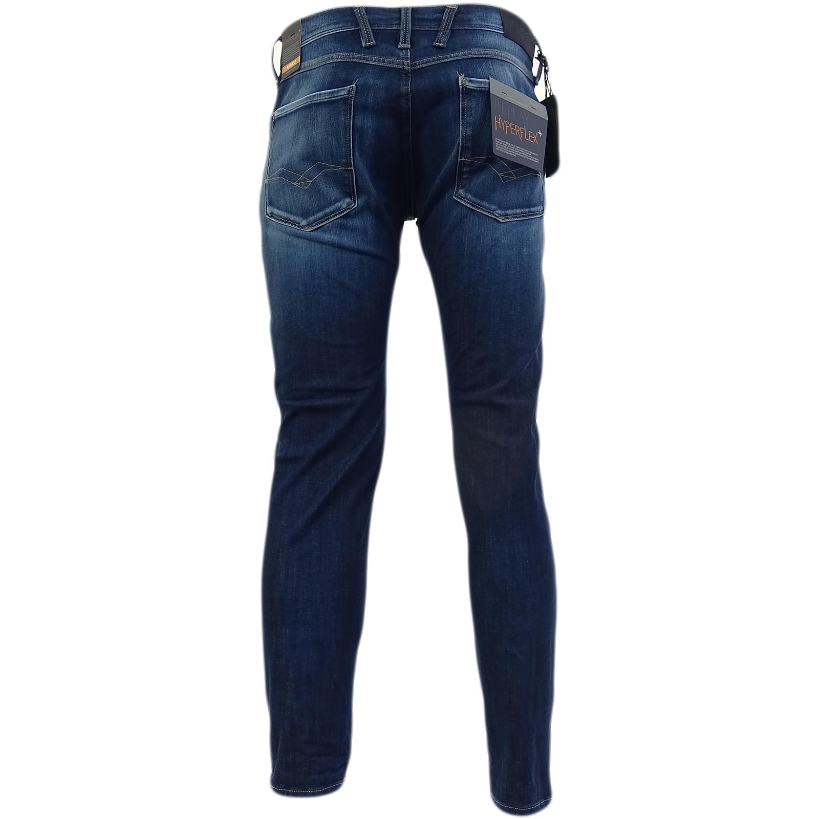 Replay Dark Blue Hyperflex Stretch Slim Fit Jean M914-661-S14-007