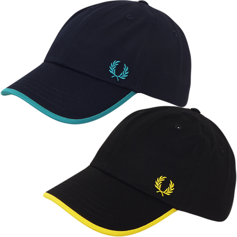 mens fred perry baseball cap hat navy or black new one. Black Bedroom Furniture Sets. Home Design Ideas