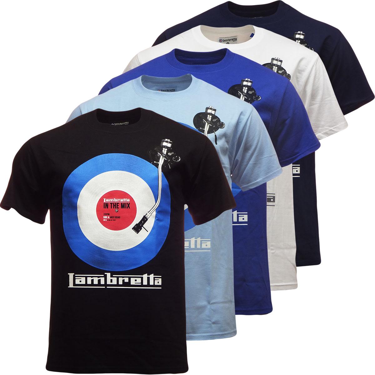 Mens lambretta t shirt 39 dj target 39 design s m l xl xxl Dj t shirt design