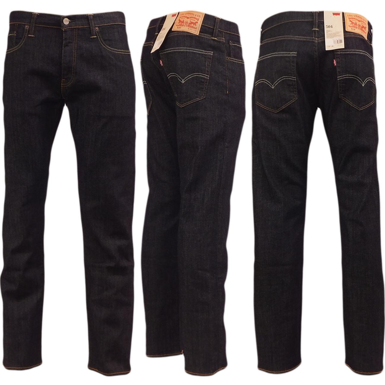 Levi 504 Regular Straight Fit Jean Leviu0026#39;s Denim Jeans u0026#39;High Defu0026#39; 30 32 34 36 38 | eBay