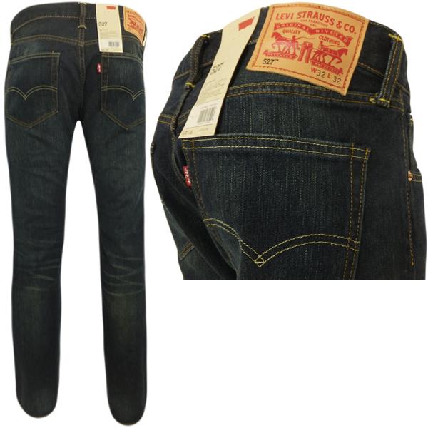 LevisпїЅ 527 seaweed dark blue bootcut jeans