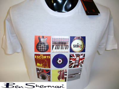 BEN SHERMAN SHORT SLEEVE WHITE T/SHIRT BNWT: X/LARGE