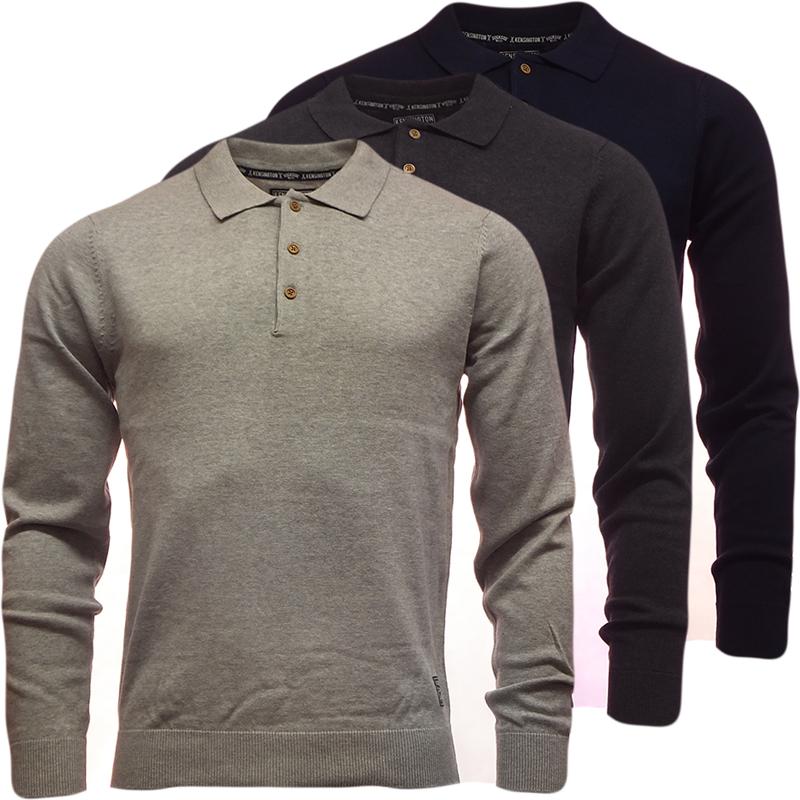 mens polo shirt long sleeve t shirt tops tee small medium