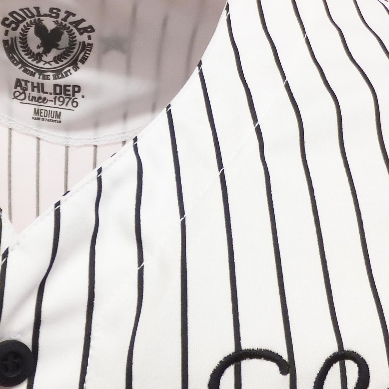 Black and white striped t shirt xxl - Soul Star Stripe Baseball T Shirt Jersey White Or Black