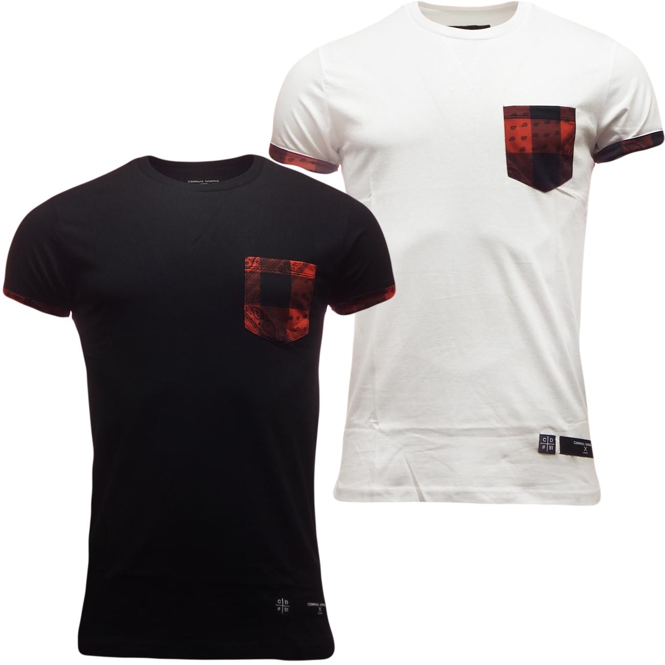product brand criminal damage product code tarty t shirt crew neck. Black Bedroom Furniture Sets. Home Design Ideas