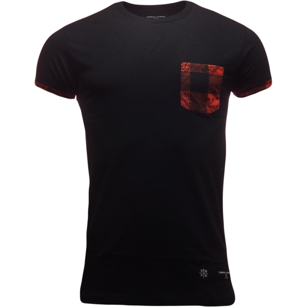 details about mens criminal damage short sleeve t shirt. Black Bedroom Furniture Sets. Home Design Ideas