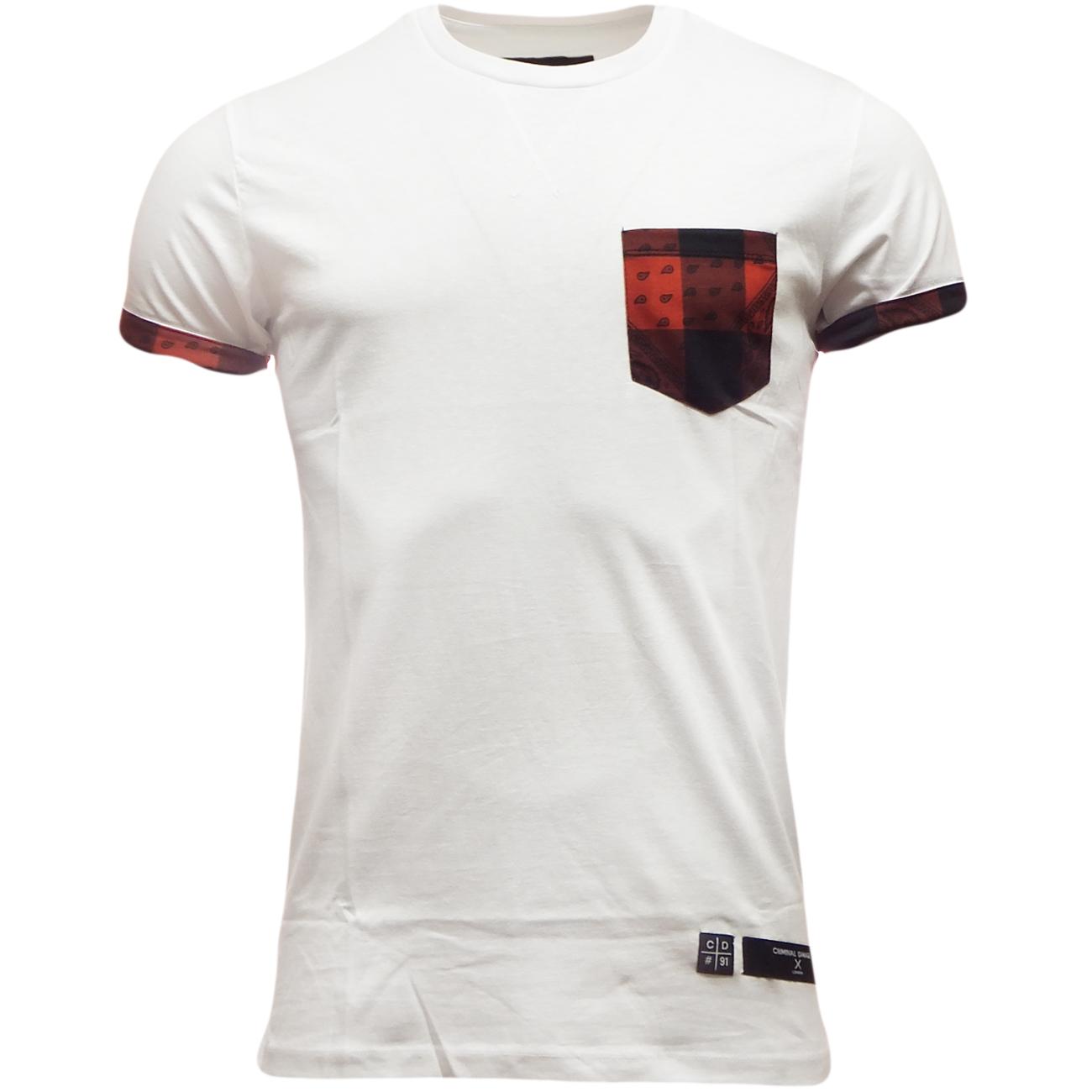 mens criminal damage short sleeve t shirt ebay. Black Bedroom Furniture Sets. Home Design Ideas