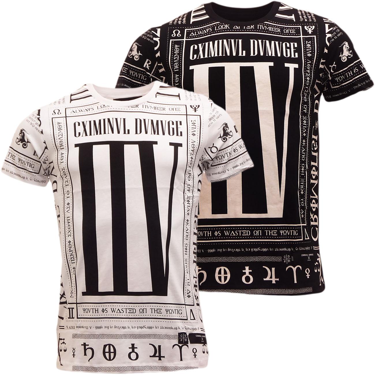 criminal damage t shirt mens short sleeve 39 scorpion 39 t shirts new s m. Black Bedroom Furniture Sets. Home Design Ideas