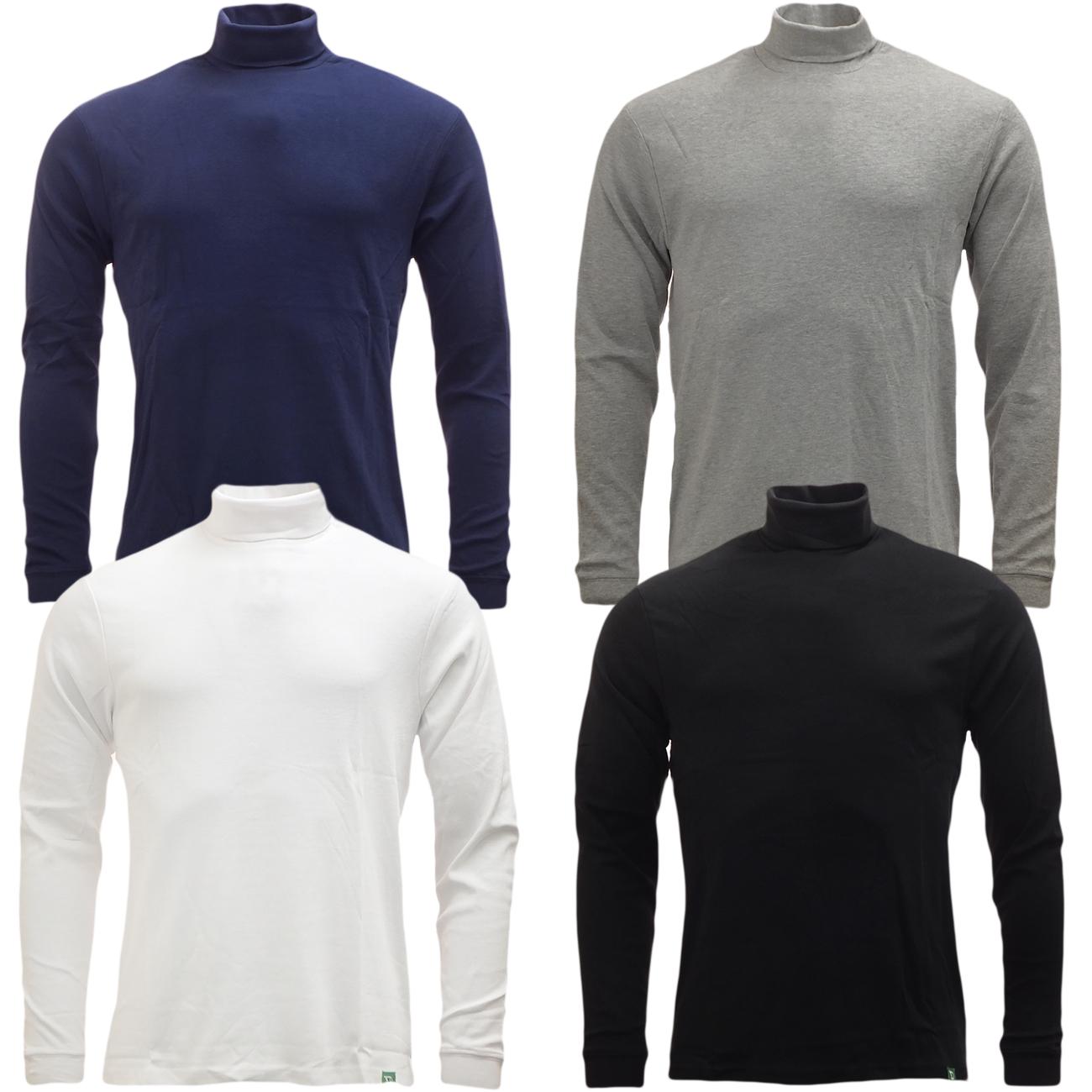 D555 Mens Long Sleeve Roll Neck T Shirt Lightweight New S