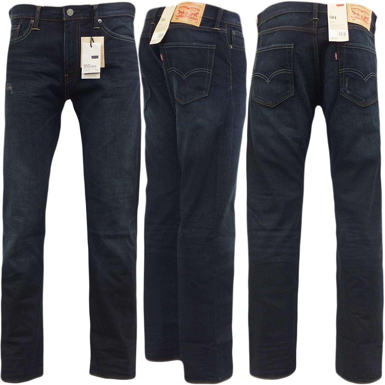 mens levi jeans 504 straight leg standard fit denim jean. Black Bedroom Furniture Sets. Home Design Ideas