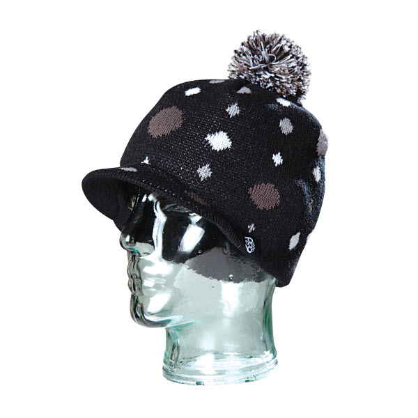 Product image of 686 Snowboard Youth Girls Circles Visor Beanie in Black