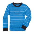 686 Boys Twill Stripe Base Layer Top Blue Medium Age 14