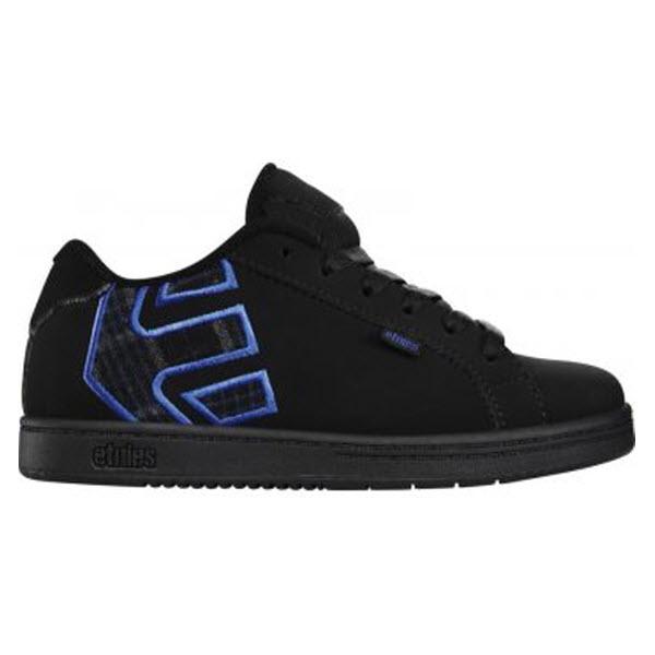 etnies boys fader skate shoes black black royal ebay