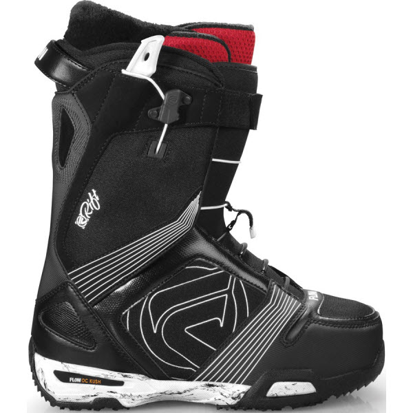 Flow Rift Quickfit Snowboard Boots in Black White 2012