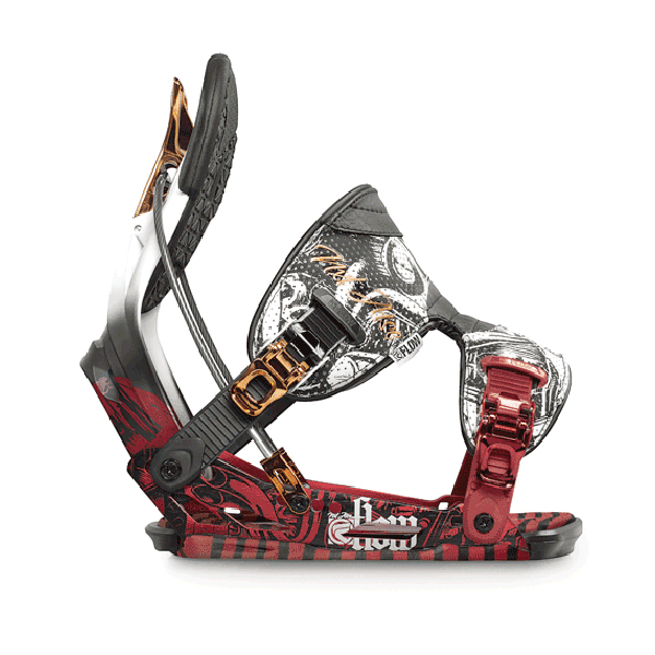 Flow NXT ATSE Snowboard Binding 2012 In Red Bronze Size