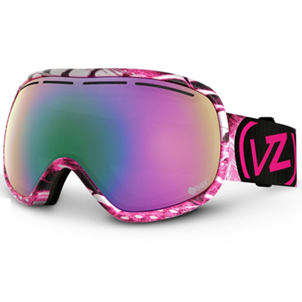 Von Zipper Chakra Snowboard Goggles 2014 in Tickler Pink B4BC Bronze Pink Chrome