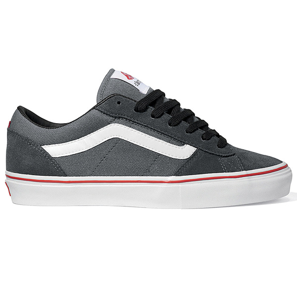 Vans La Cripta Dos Skate Shoes in Pewter White Red