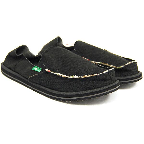 sanuk mens hemp shoes sandal sidewalk surfers black ebay