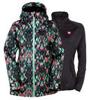 686 Womens Smarty Haven Snowboard Jacket Kaleidoscope Small 2017