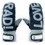 Radical Smitten Mitten snowboard mitts 2013 in Grey with bonus liner