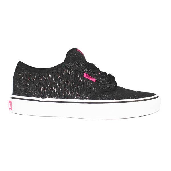 vans atwood chaussures femme chaussures 2012 nouvelle oripeaux toile paillettes noir rose. Black Bedroom Furniture Sets. Home Design Ideas