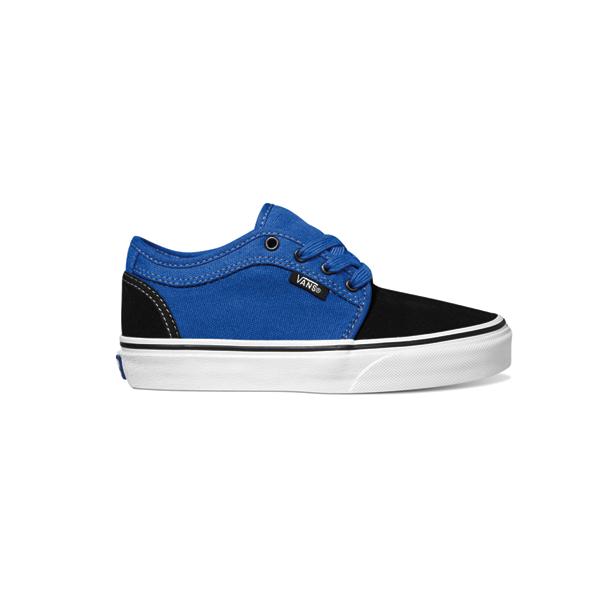 vans chukka low youth shoes black royal kids boys ebay
