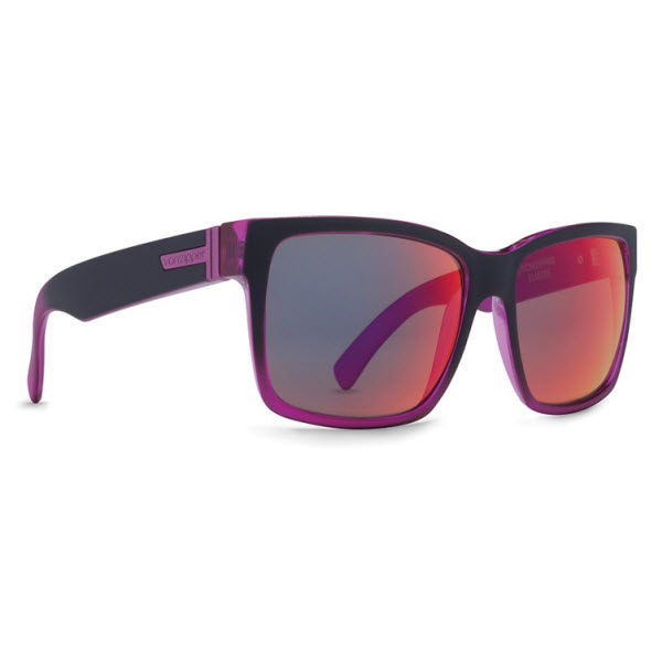 Product image of Von Zipper Elmore Sunglasses-Frostbyte Black Pink,Galactic Glo Lens,VZ