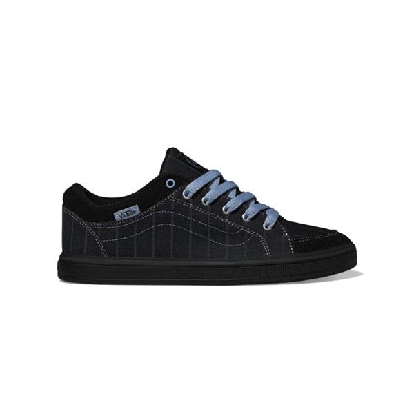 caed7a2597 Vans Womens Skyla Shoes in Menswear Black