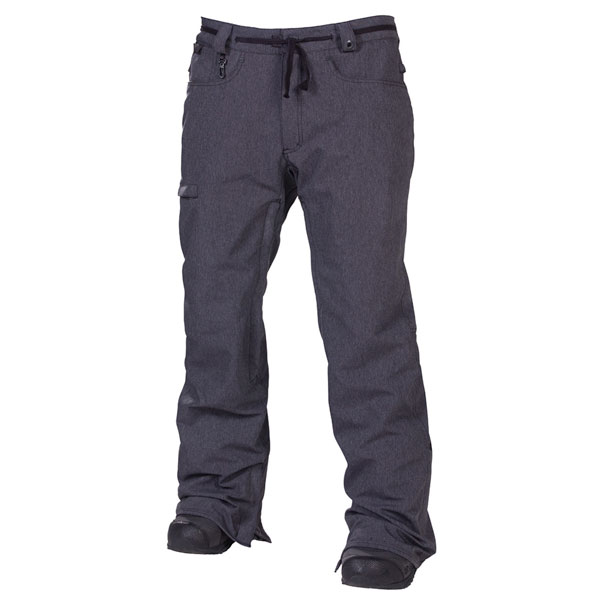 686 Mens Reserved Raw Pant 2013 in Twill Denim Black