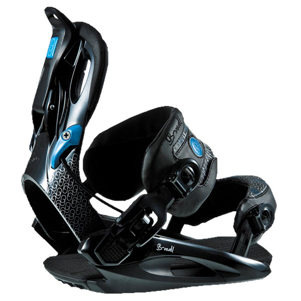 Gnu B-Real Womens Snowboard Bindings 2011 in Black Size Small Showroom Sample
