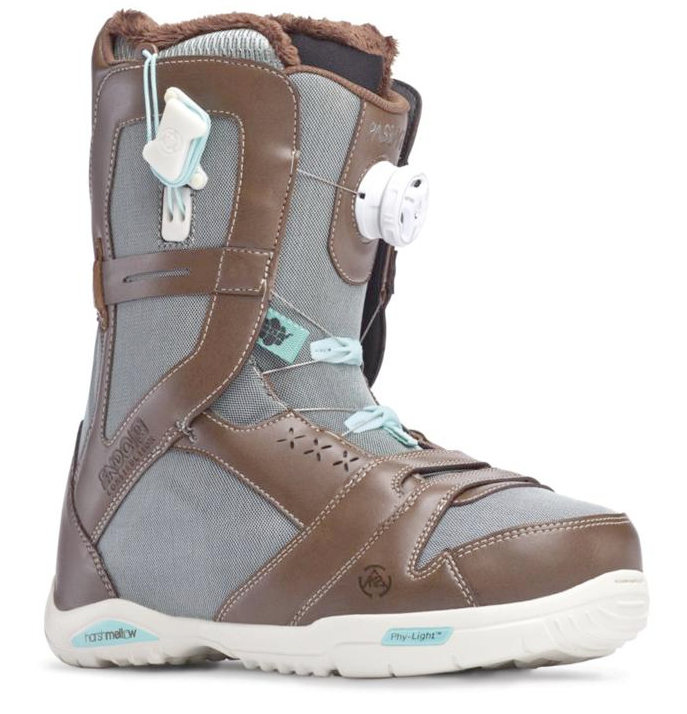 K2 Passage BOA 2014 Sample Womens Snowboard Boots New Brown Uk 5.5