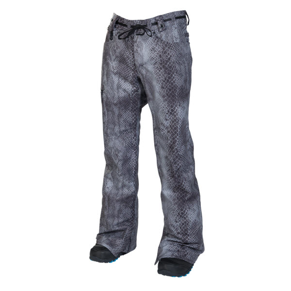 686 Reserved Raw Slim Mens Snowboard Pants Gunmetal Python Sample Large 2014