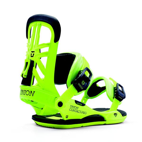 Union Contact Pro Snowboard Bindings Acid Green Black New