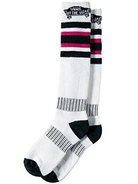 Vans Womens Classic Snow Socks Heavy weight 2013 in White Black Size M/L