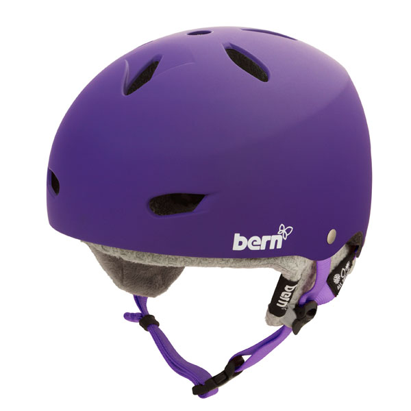 Product image of Bern Brighton Hard Hat Womens Helmet 2013 in Matte Purple Grey Knit