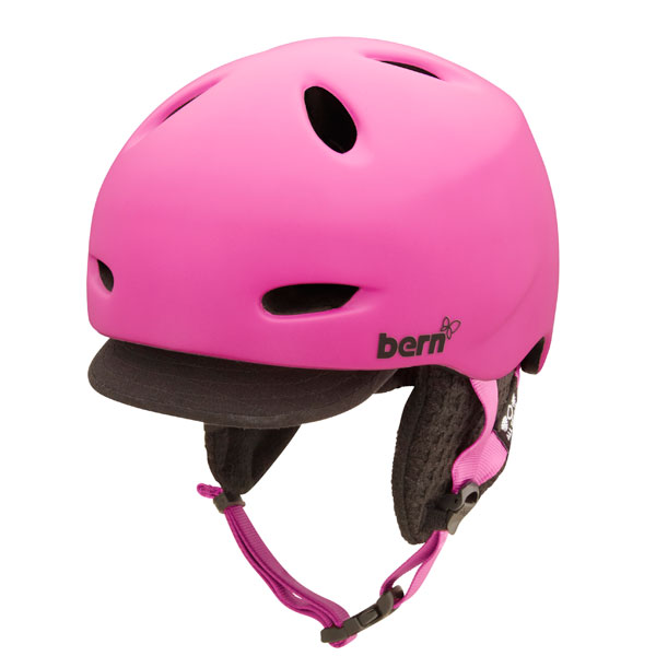 Product image of Bern Berkeley Womens Zip Mold Helmet 2013 Matte Magenta Black Visor Knit
