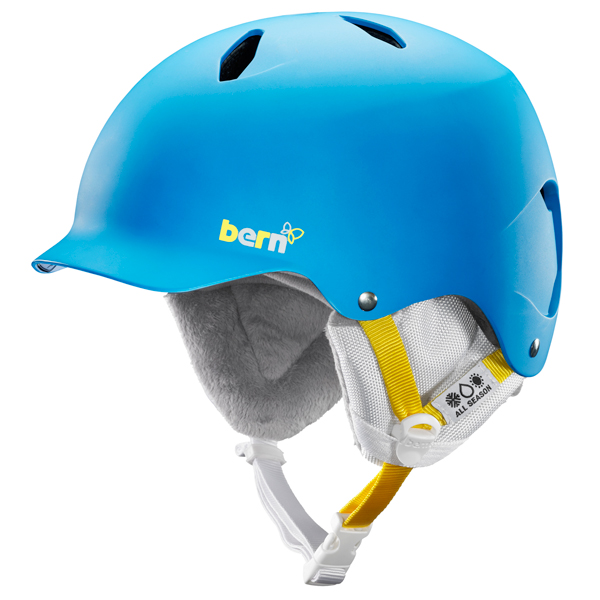 Product image of Bern Bandita EPS Junior Helmet 2014 in Satin Peacock Blue with White liner