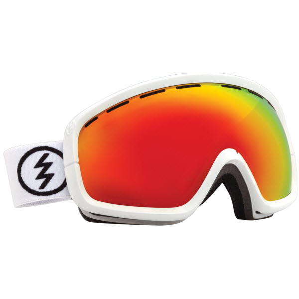 Electric EGB2S Snowboard Goggles Gloss White Bronze / Red Chrome Lens 2014