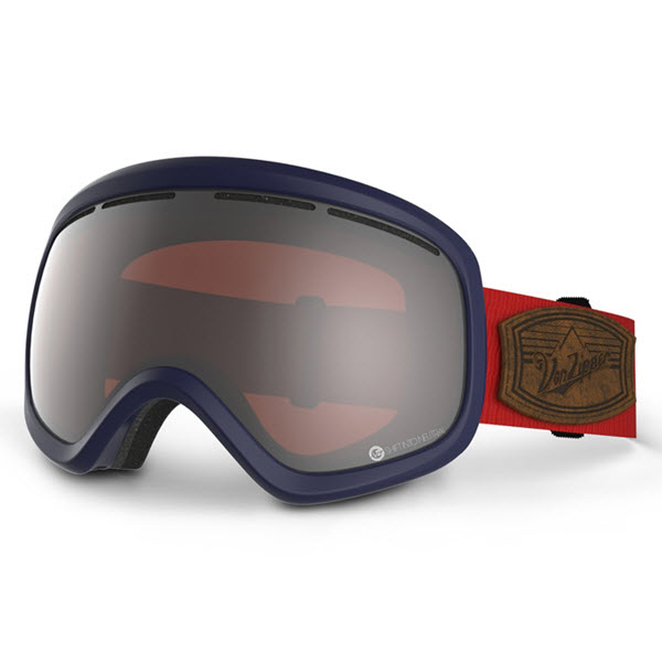 Product image of Von Zipper Skylab Goggles Shift into Neutral Navy w/ Persimmon Chrome