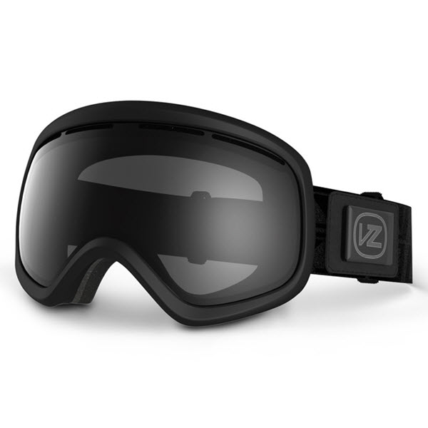 Von Zipper Skylab Snowboard Goggles Black Satin with Black Chrome Lens New 2014