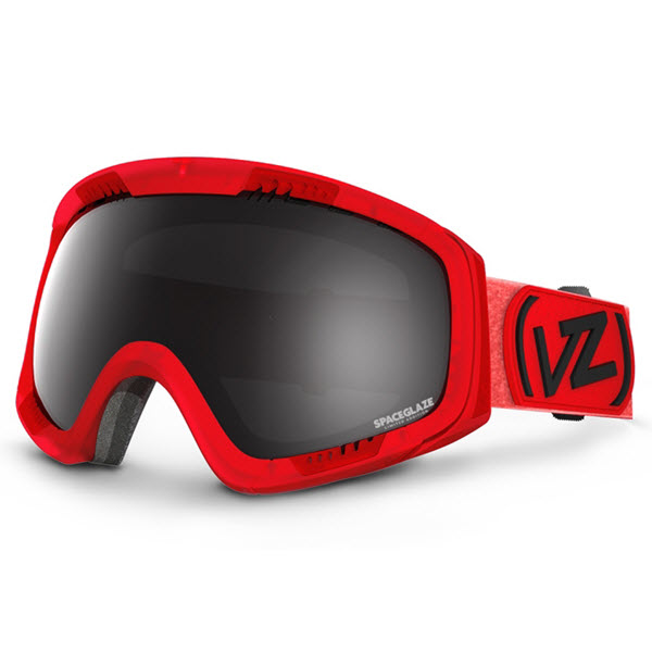 Von Zipper Feenom Snowboard Goggles 2014 Spaceglaze Red Black Chrome Lens