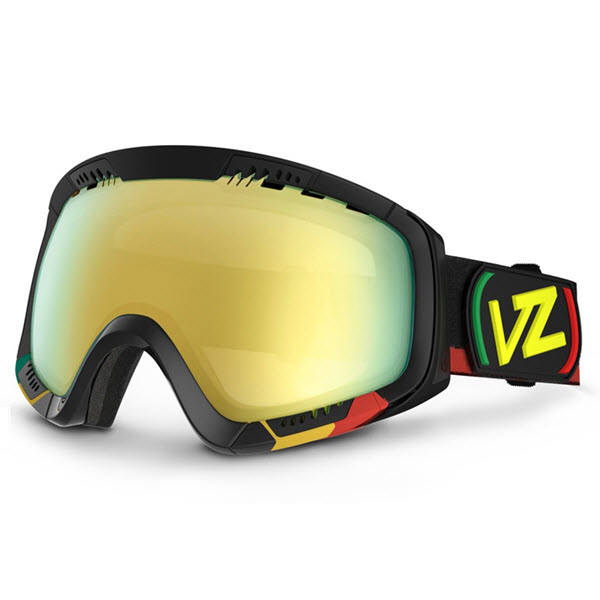 Von Zipper Feenom Snowboard Goggles Vibrations with Gold Chrome Lens New 2014