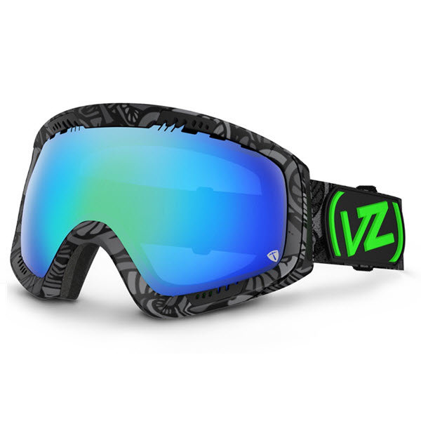 Von Zipper Feenom Goggles John Jackson Shroom Black with Quasar Chrome Lens 2014