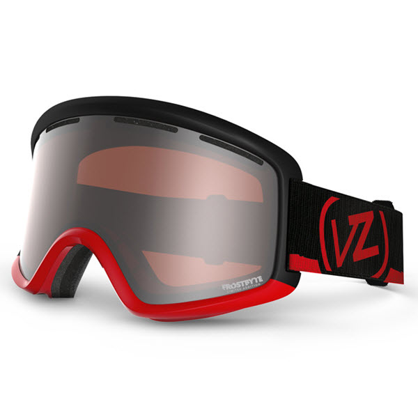 Von Zipper Beefy Snowboard Ski Goggles Frostbyte Ltd Red with Bronze Lens 2014