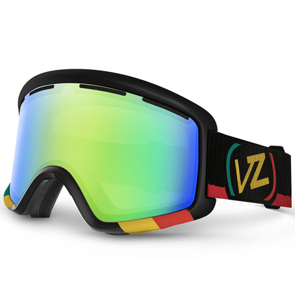 Von Zipper Beefy Snowboard Ski Goggles Vibrations with Quasar Chrome Lens 2014