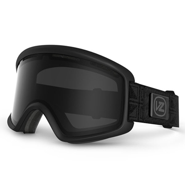 Von Zipper Beefy Snowboard Ski Goggles Black Satin with Blackout Lens 2014