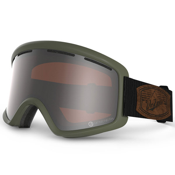 Von Zipper Beefy Goggles Olive Shift into Neutral with Persimmon Chrome Lens 2014